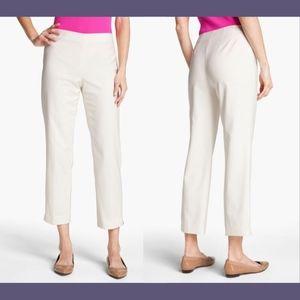 NEW St. John Yellow Audrey Capri pants 4 White